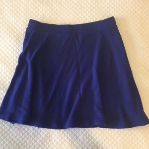 Forever 21 Royal Blue Flirty Skater Mini Skirt XS